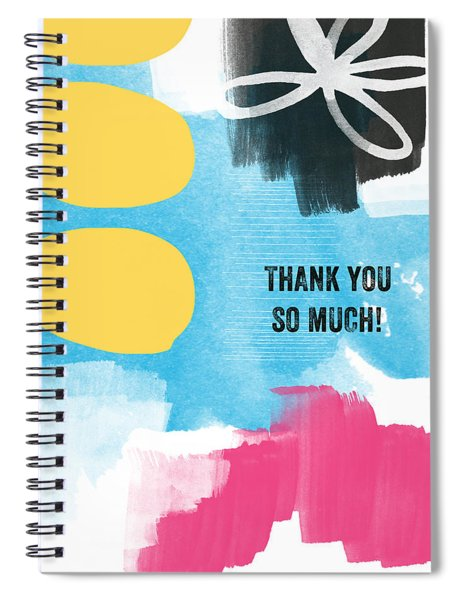 Thank You So Much- Colorful Greeting Card Spiral Notebook
