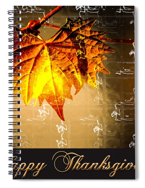 Thanksgiving Card Spiral Notebook