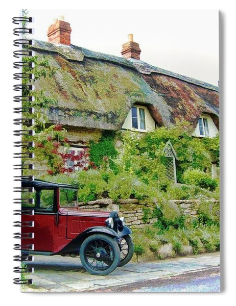 Thatched Cottages At Reybridge Spiral Notebook by Paul Gulliver