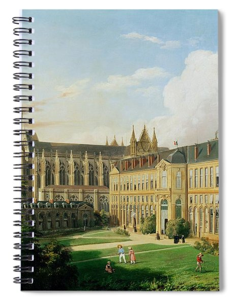 The Abbey Church Of Saint-denis And The School Of The Legion Of Honour In 1840 Oil On Canvas Spiral Notebook