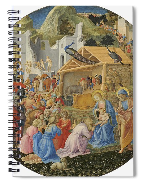 The Adoration Of The Magi, C.1440-60 Tempera On Panel Spiral Notebook