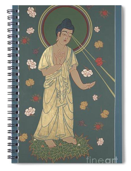 The Amitabha Buddha Descending 247 Spiral Notebook