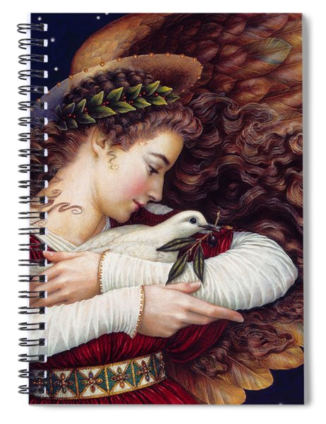 The Angel And The Dove Spiral Notebook