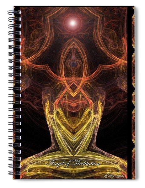 The Angel Of Meditation Spiral Notebook