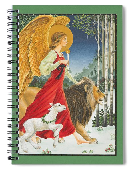 The Angel The Lion And The Lamb Spiral Notebook