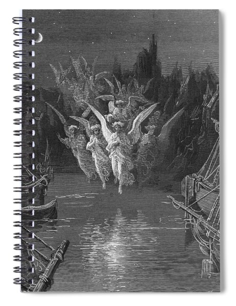 The Angelic Spirits Leave The Dead Bodies And Appear In Their Own Forms Of Light Spiral Notebook