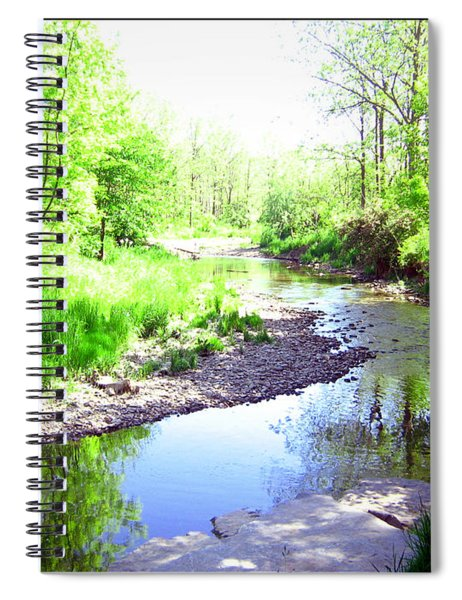 The Babbling Stream Spiral Notebook