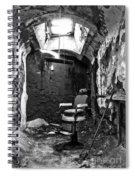 The Barber Chair - Bw Spiral Notebook