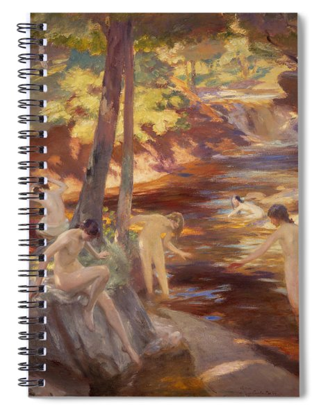 The Bathing Pool Spiral Notebook