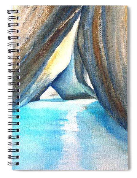 The Baths Azul Spiral Notebook