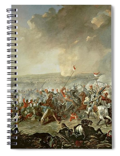 The Battle Of Waterloo, 18th June 1815 Oil On Canvas Spiral Notebook