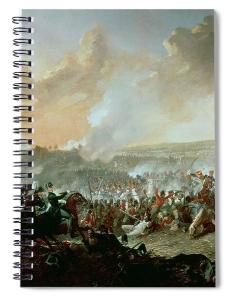 The Battle Of Waterloo, 18th June 1815 Oil On Canvas Detail Of 209202 Spiral Notebook