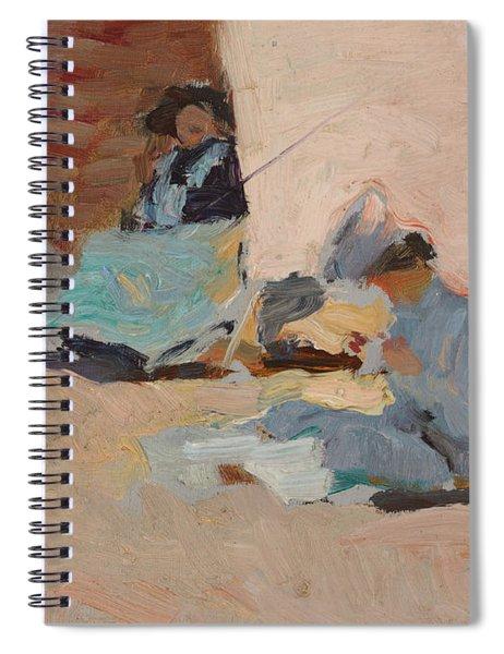 The Beach  Biarritz Spiral Notebook