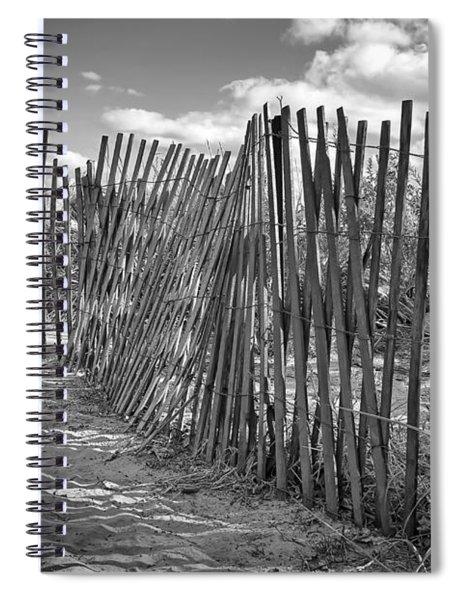 The Beach Fence Spiral Notebook