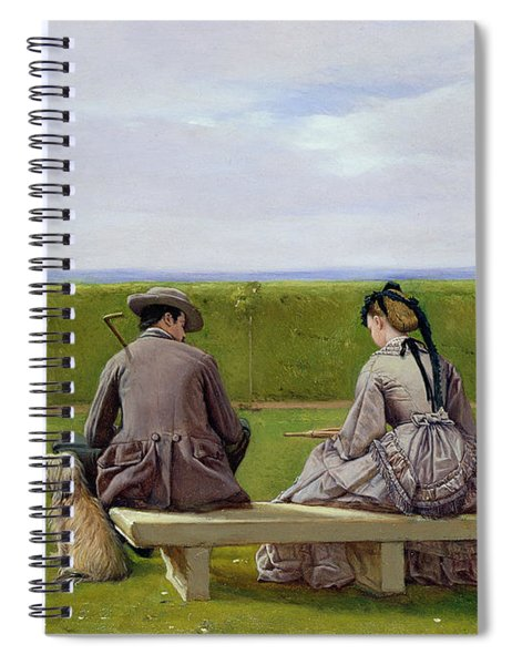 The Bench By The Sea Spiral Notebook
