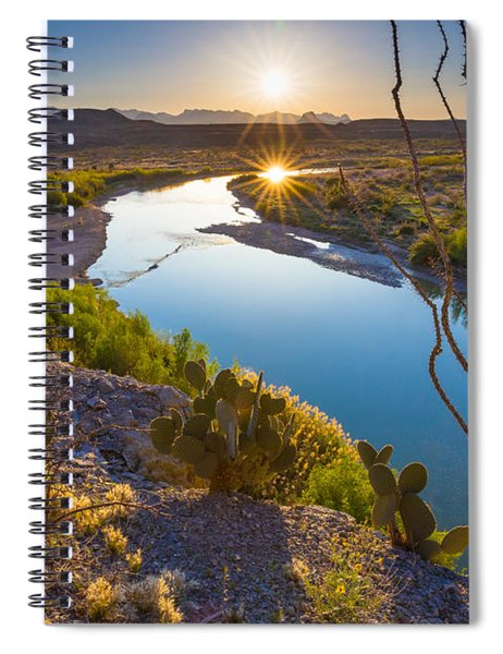 Spiral Notebook featuring the photograph The Big Bend by Inge Johnsson