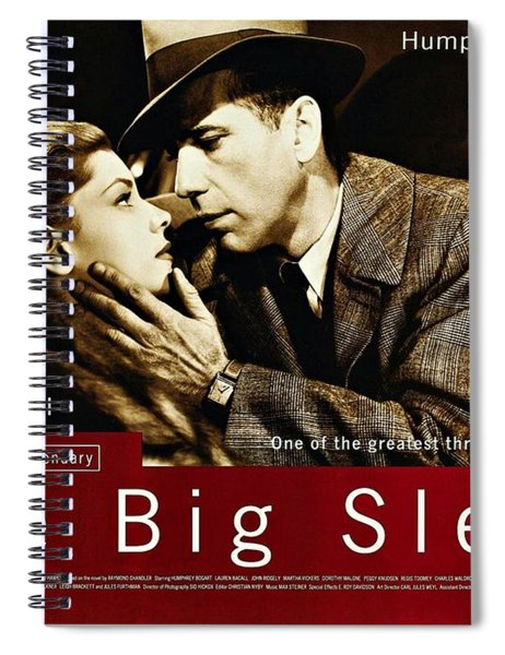 Spiral Notebook featuring the photograph The Big Sleep  by Movie Poster Prints