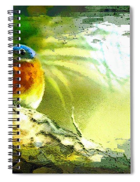 The Bird And The Golf Ball Spiral Notebook