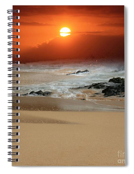 The Birth Of The Island Spiral Notebook