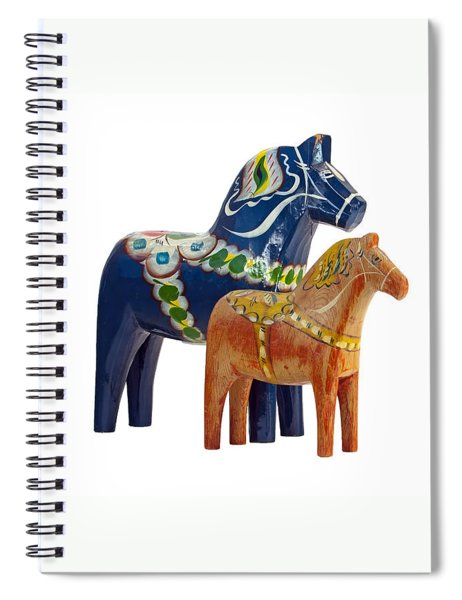 The Blue And Red Dala Horse Spiral Notebook