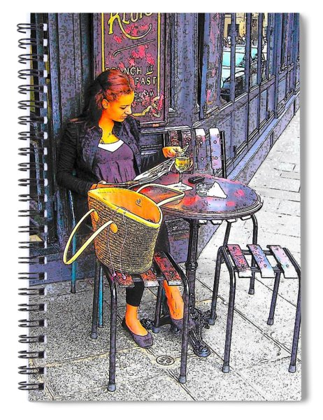 The Brasserie In Paris Spiral Notebook