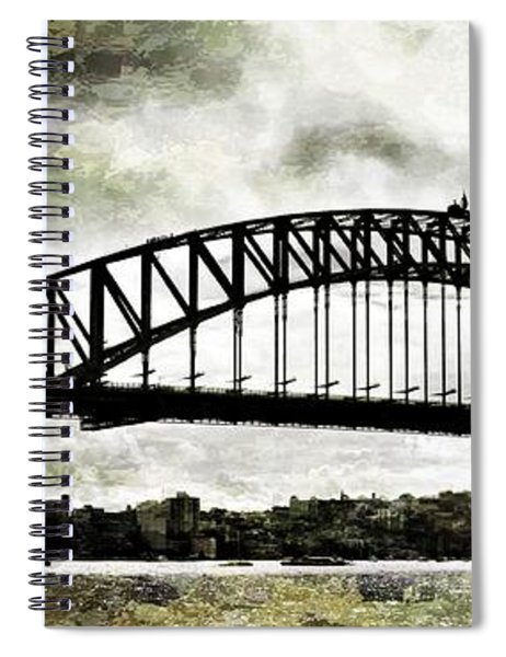 The Bridge Spattled Spiral Notebook
