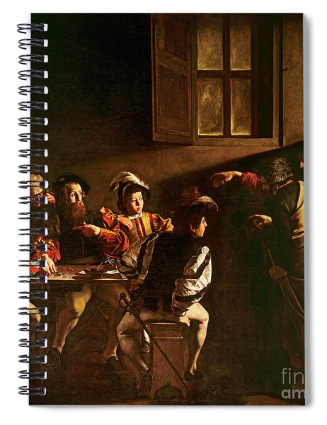 The Calling Of St Matthew Spiral Notebook