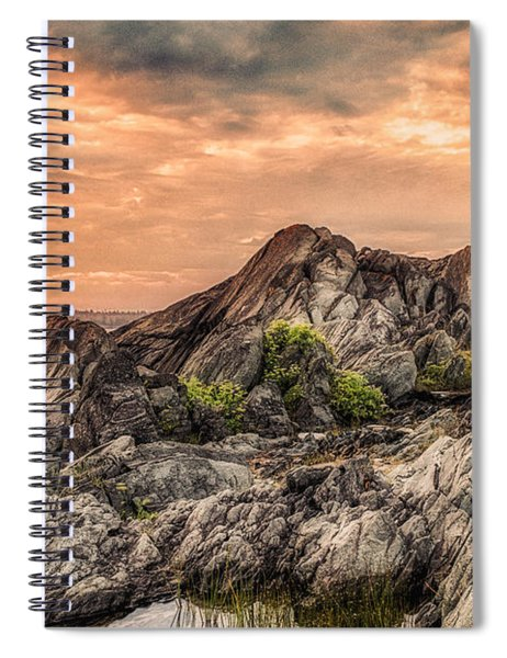 Spiral Notebook featuring the photograph The Calm Before The Storm by Garvin Hunter