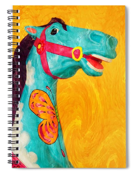 The Carousel Horse Spiral Notebook