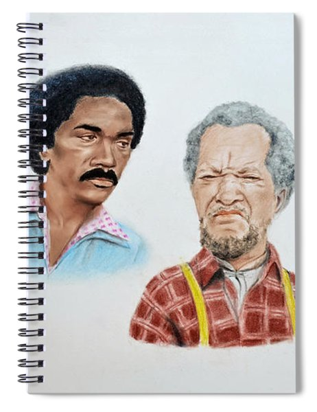 The Cast Of Sanford And Son  Spiral Notebook