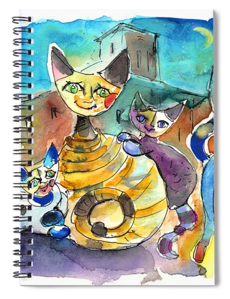 The Cat Family Of Toledo Spiral Notebook