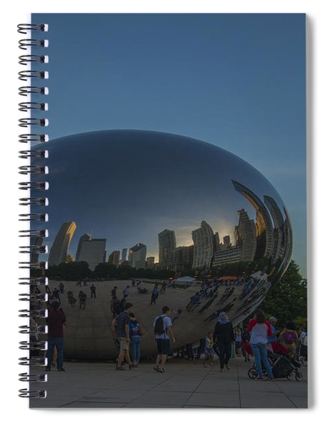 The Chicago Bean In Millenium Park Color Spiral Notebook