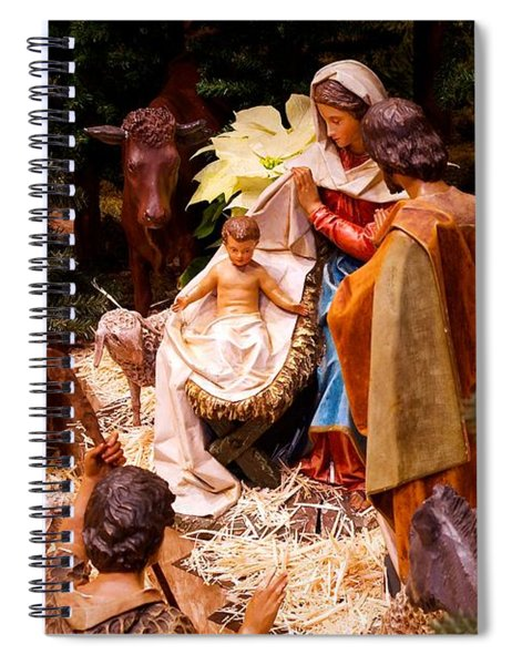 The Christmas Creche At Holy Name Cathedral - Chicago Spiral Notebook