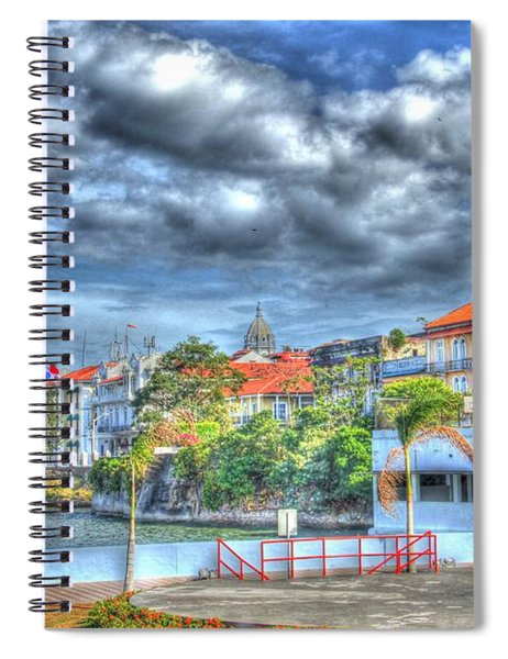 The Colors Of Casco Viejo Spiral Notebook