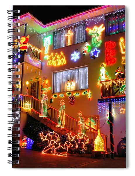 The Colors Of Christmas 2 Spiral Notebook
