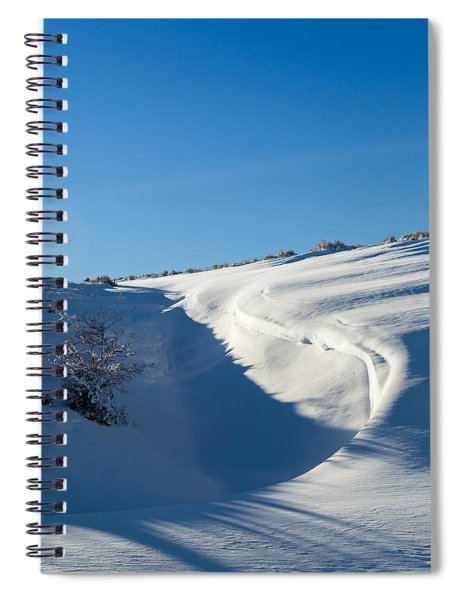 The Colors Of Snow Spiral Notebook