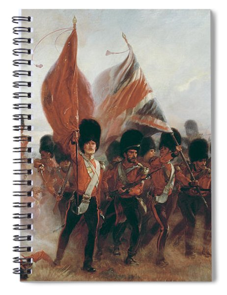 The Colors Advance Of The Scots Guards At The Alma Spiral Notebook