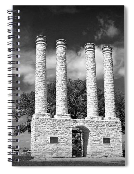 The Columns Of Old Baylor At Independence Spiral Notebook