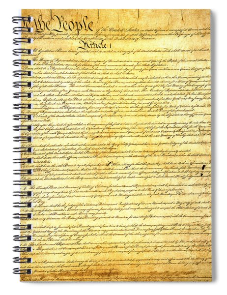 The Constitution Of The United States Of America Spiral Notebook