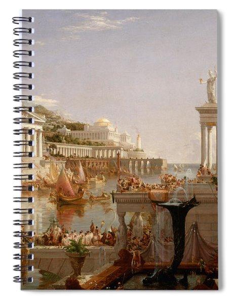 The Course Of Empire Consummation  Spiral Notebook