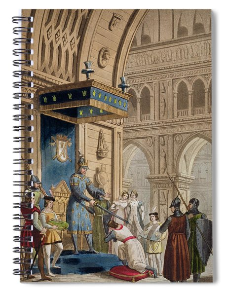 The Creating Of A Knight Templar Spiral Notebook