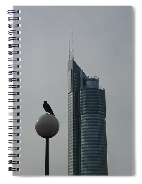 The Crow And The Milleniumtower In Winter Spiral Notebook