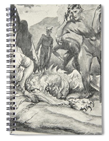 The Death Of Beowulf Spiral Notebook