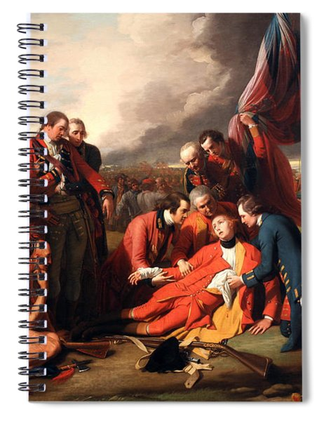 The Death Of General Wolfe Spiral Notebook
