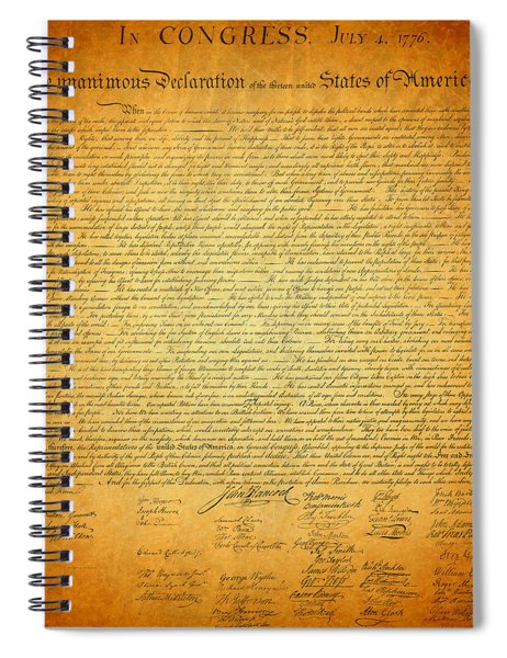 The Declaration Of Independence - America's Founding Document Spiral Notebook