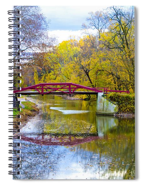 The Delaware Canal Near New Hope Pa In Autumn Spiral Notebook