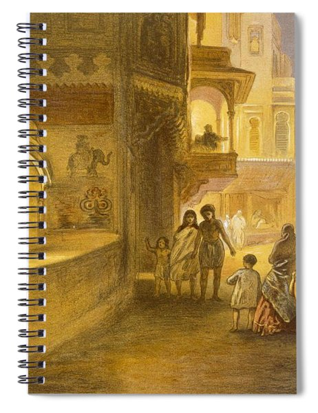 The Dewali Or Festival Of Lamps Spiral Notebook