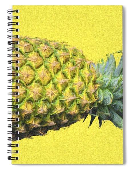 The Digitally Painted Pineapple Sideways Spiral Notebook