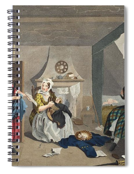 The Distressed Poet, Illustration Spiral Notebook