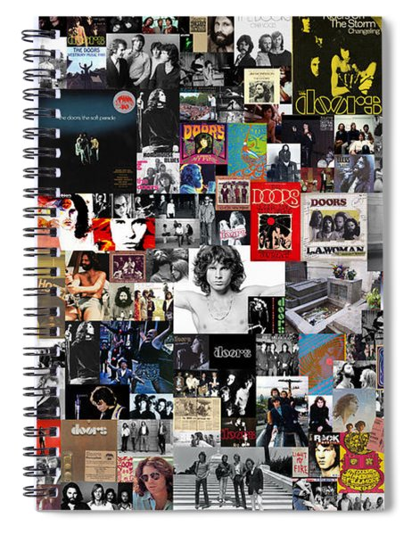 The Doors Collage Spiral Notebook